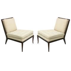 Pair of Robsjohn Gibbings Slipper Chairs