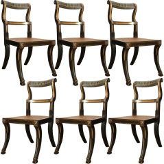 Set of 6 Klismos Baltimore Chairs