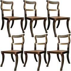 Set of 6 Klismos Baltimore Chairs