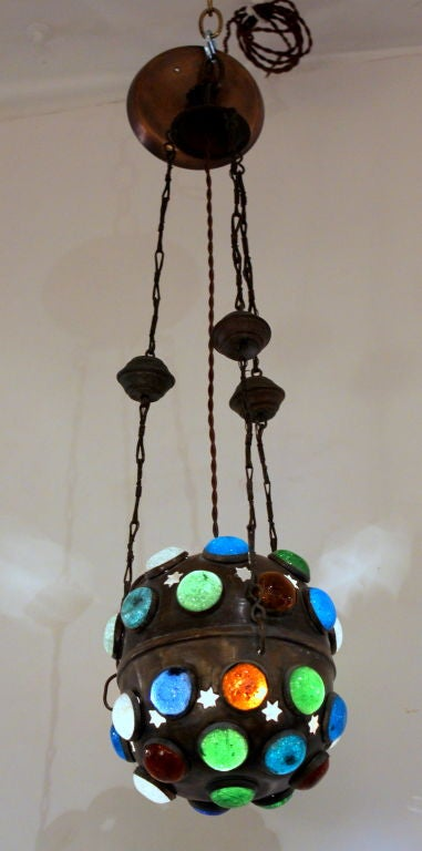 20th Century Moroccan Lantern with Jewels For Sale
