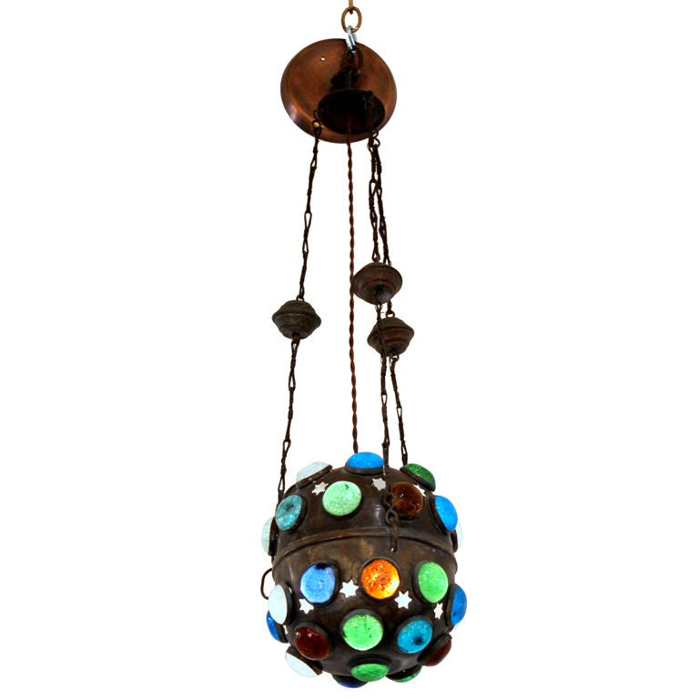 Moroccan Lantern with Jewels For Sale