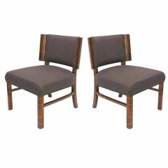 Pair of French Moderne Macassar Chairs