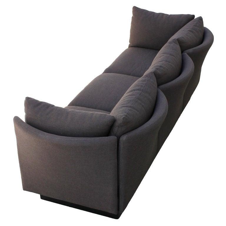 Arthur Elrod Custom Curved Back Sofa At 1stdibs