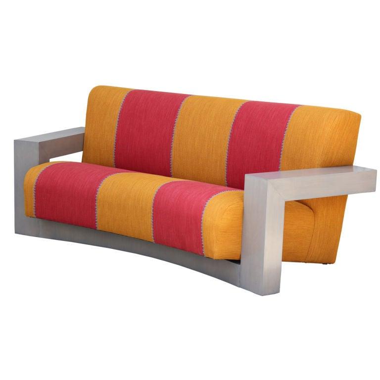Modernist Curved Sofa in the manner of Gerrit Reitveld