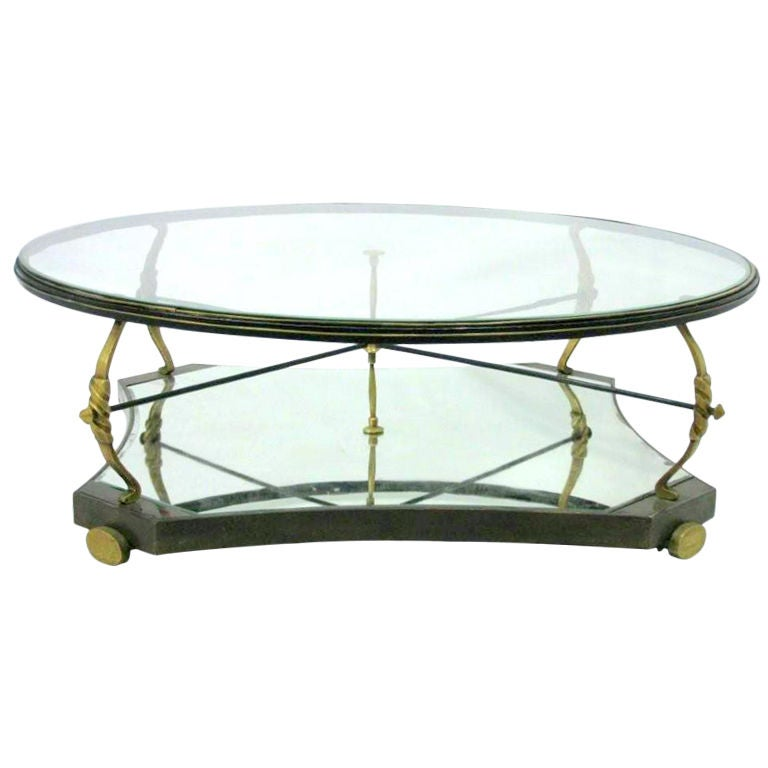 Large Robert and Mito Block Cocktail Table