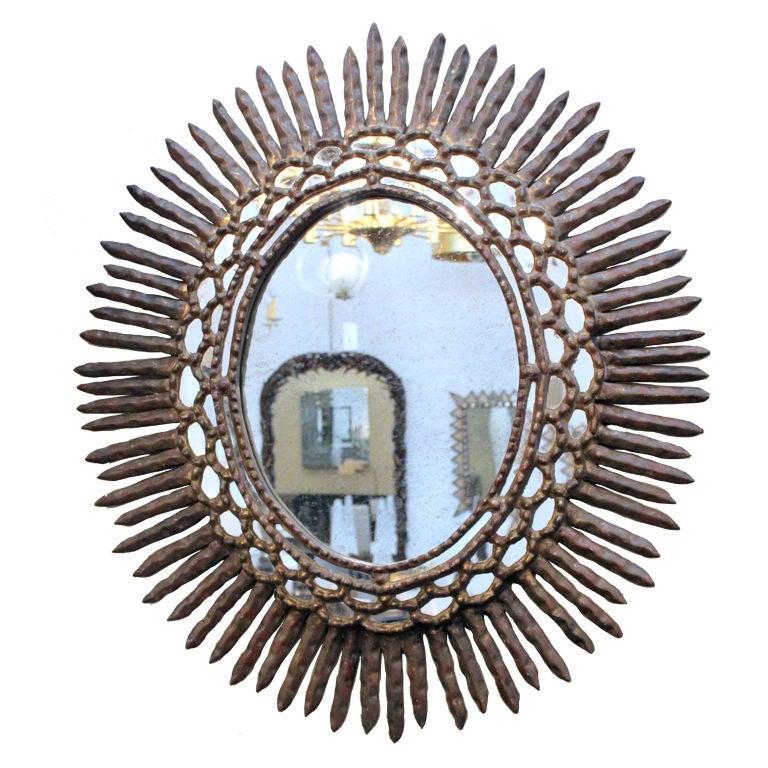 Safavieh Handpicked Hacienda Argentinian Zebra Print: Large Sunburst Mirror At 1stdibs