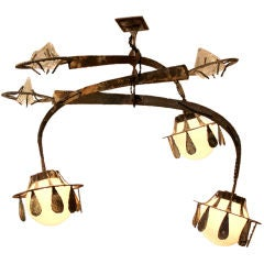 Crystal and Iron California Craft Chandelier