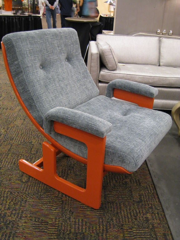 Italian Ponti & Turchini Lounge Chair For Sale