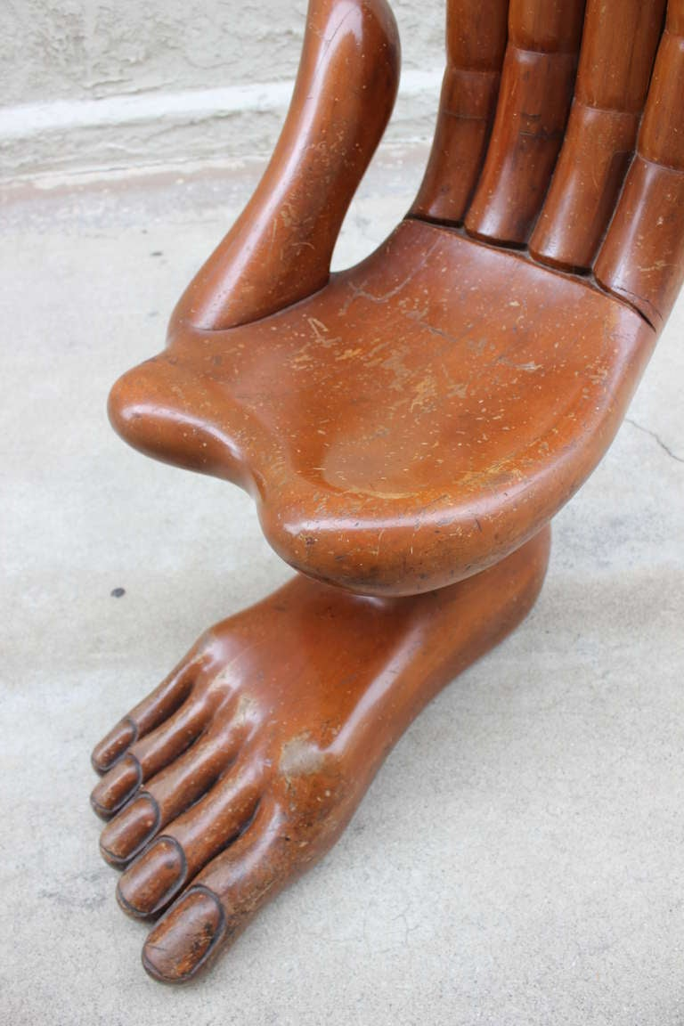 Rare Pedro Friedeberg Hand Foot Chair 4