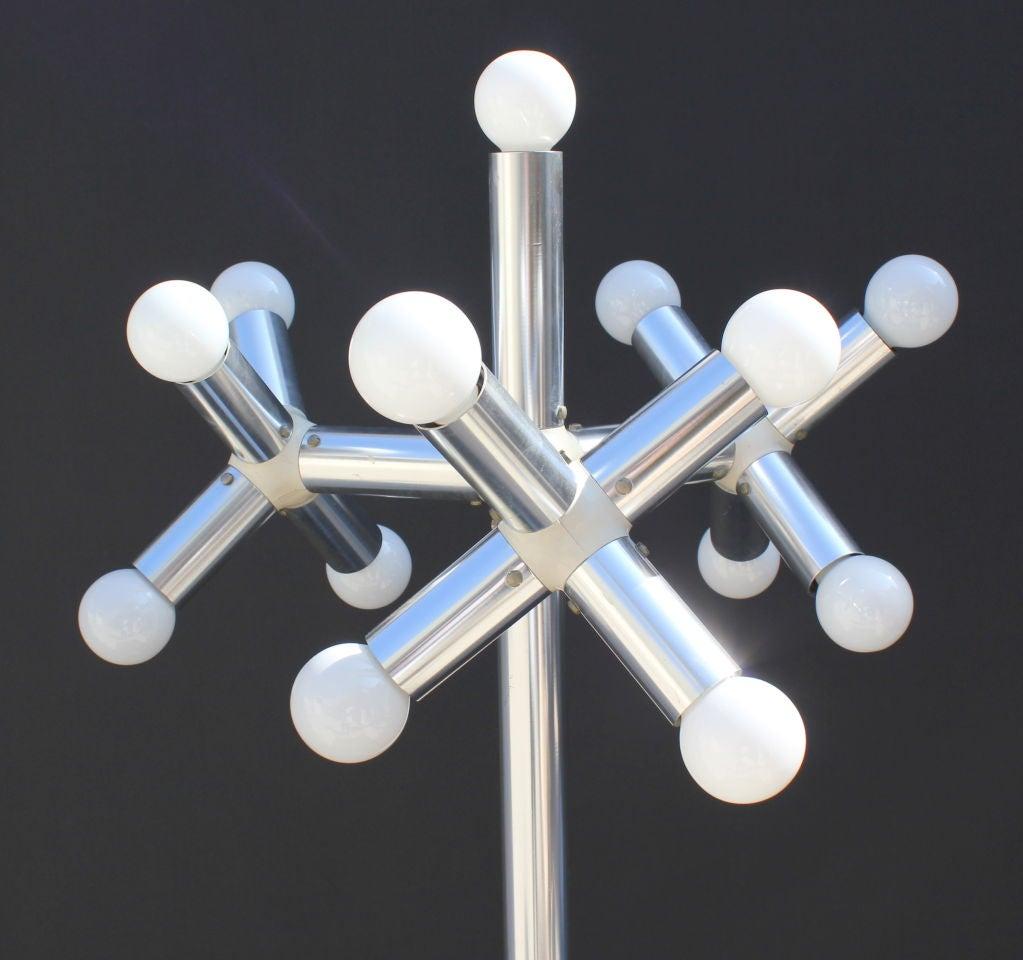 Swiss Robert Hausmann Kristall Floor Lamp