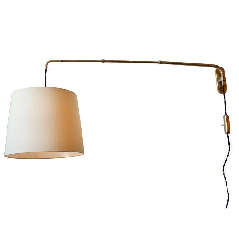 Italian Brass Telescoping Swing Arm Lamp At 1stdibs