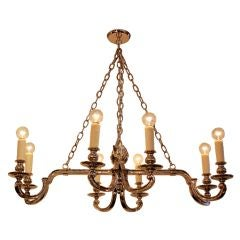 Neo Classical Nickel 8 Arm Chandelier