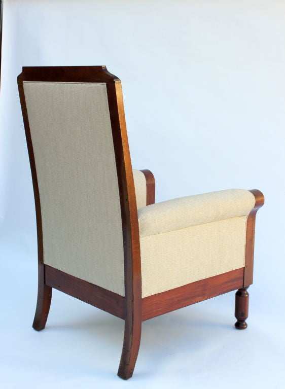 Large english regency armchair for sale at 1stdibs for Oversized armchairs for sale