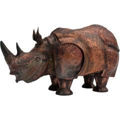 Large Hand Wrought  Copper Rhino Box  by Onik Agaronyan