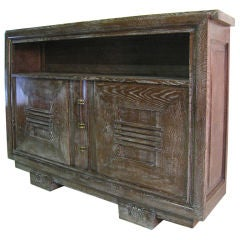Charles Dudouyt French Oak Cabinet