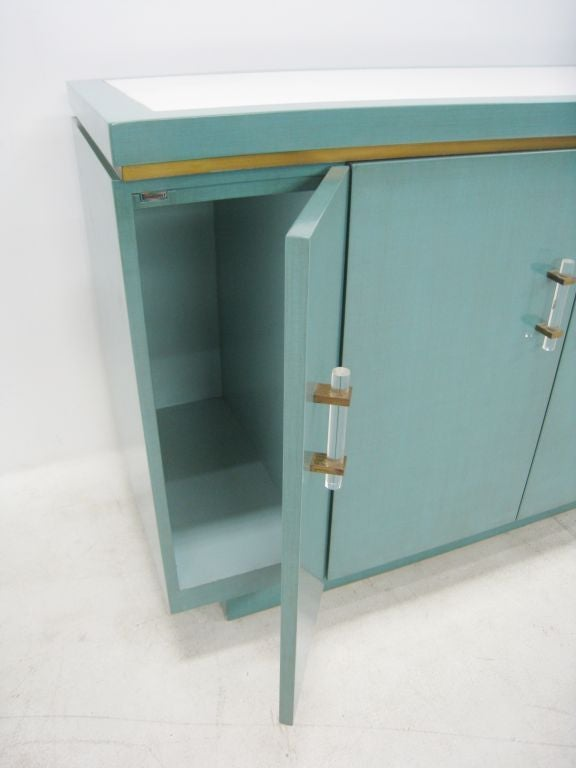 Pair of Lacquer Cabinets Inset Marble from Bullocks Wilshire 7