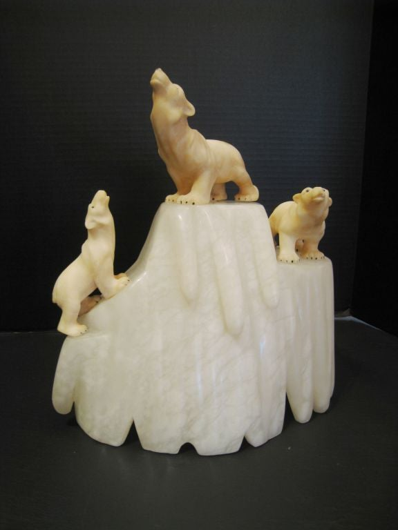 Italian Carved Alabaster Lamp For Sale At 1stdibs