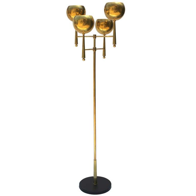 Stiffel Brass Floor Lamp at 1stdibs