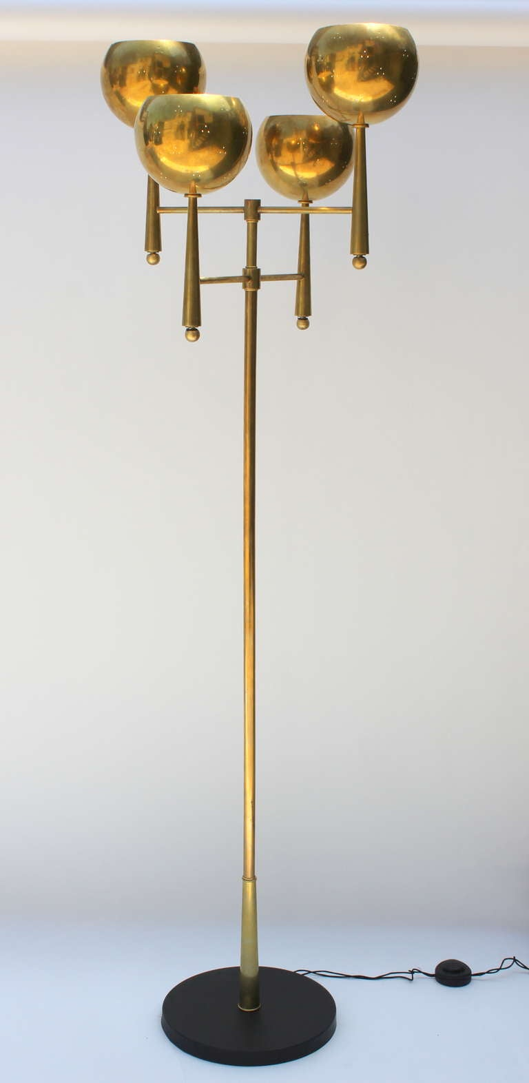stiffel brass floor lamp at 1stdibs. Black Bedroom Furniture Sets. Home Design Ideas