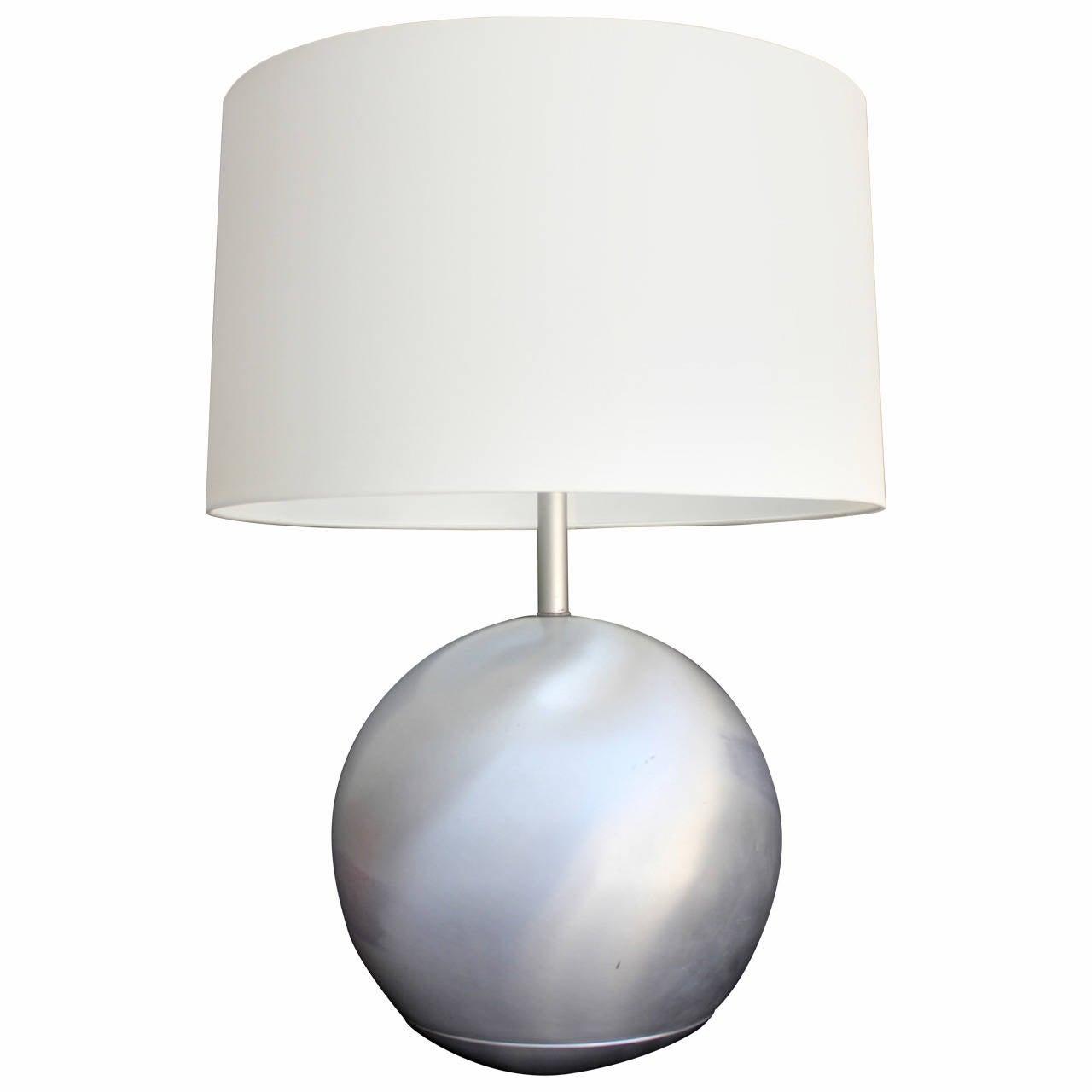 16 Inch Russel Wright Spun Aluminum Lamp