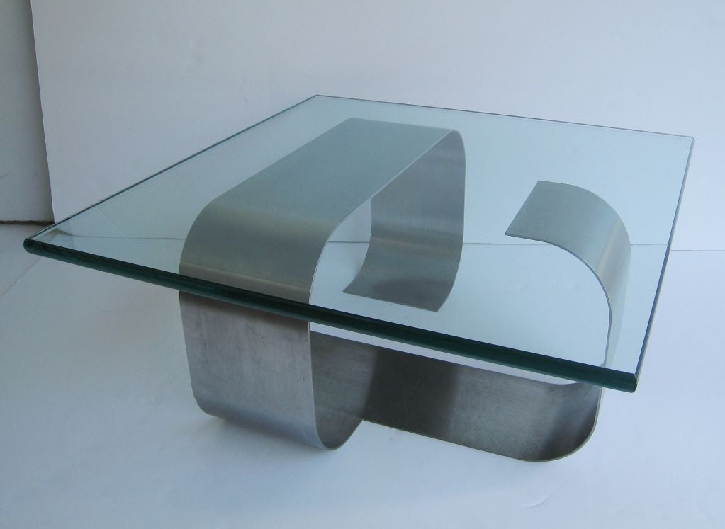Francois Monnet Kappa Stainless Steel Cocktail Table 2