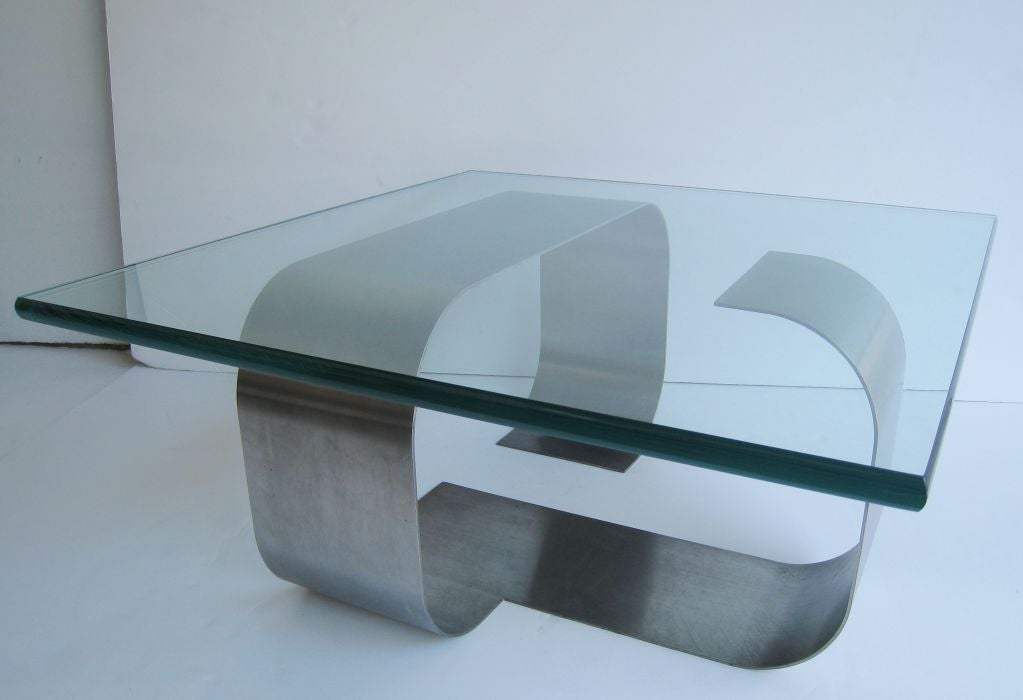 Francois Monnet Kappa Stainless Steel Cocktail Table 3