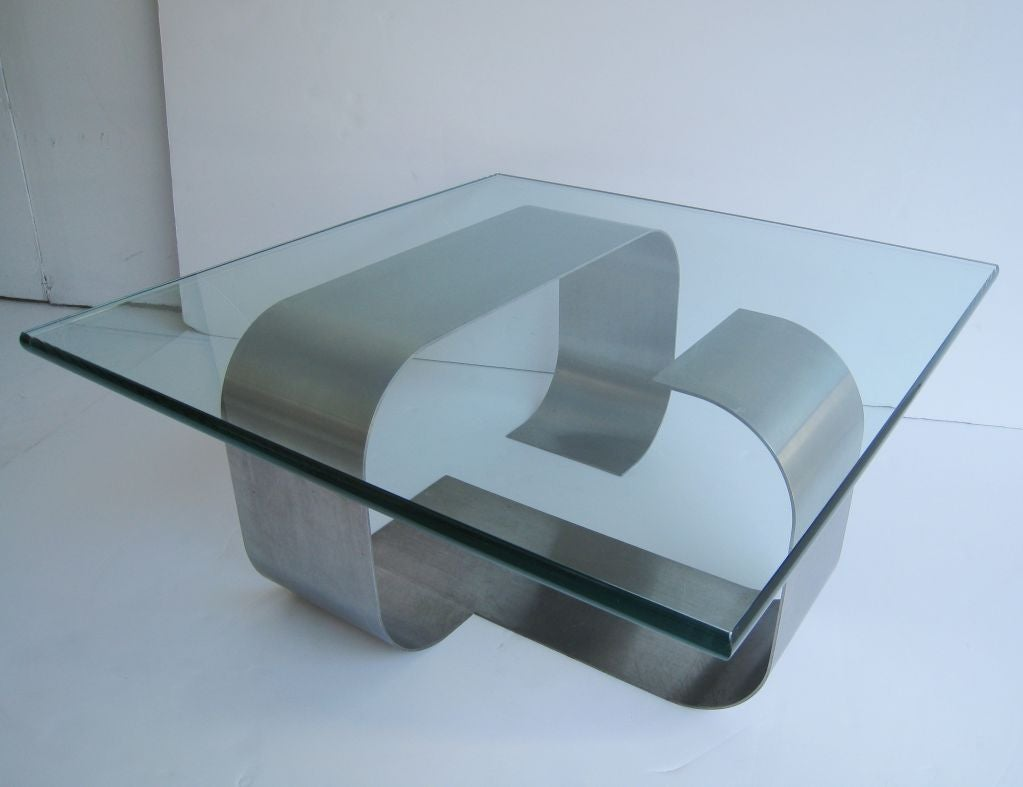 Francois Monnet Kappa Stainless Steel Cocktail Table 4