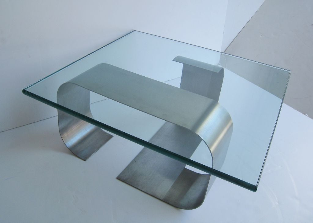 Francois Monnet Kappa Stainless Steel Cocktail Table 5