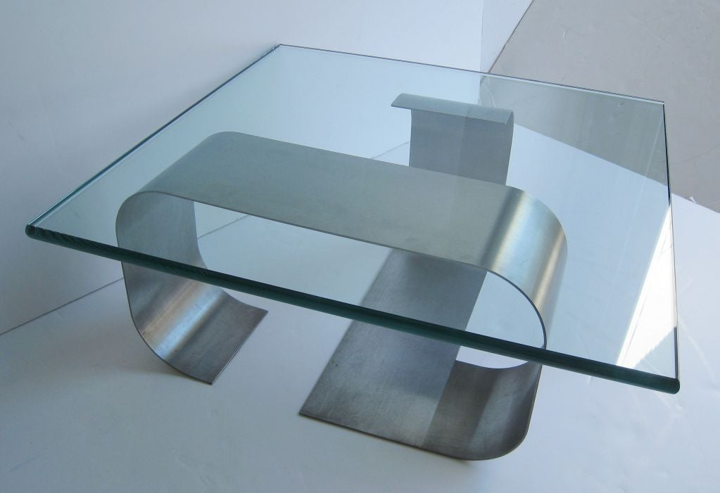 Francois Monnet Kappa Stainless Steel Cocktail Table 6