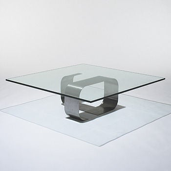Francois Monnet Kappa Stainless Steel Cocktail Table 8