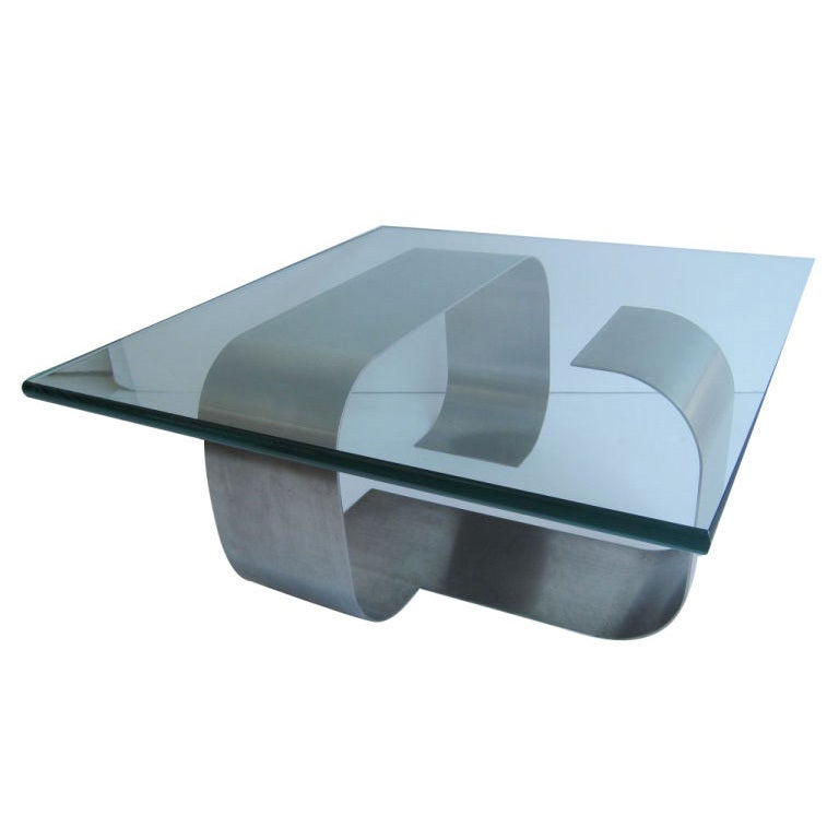 Francois Monnet Kappa Stainless Steel Cocktail Table 1