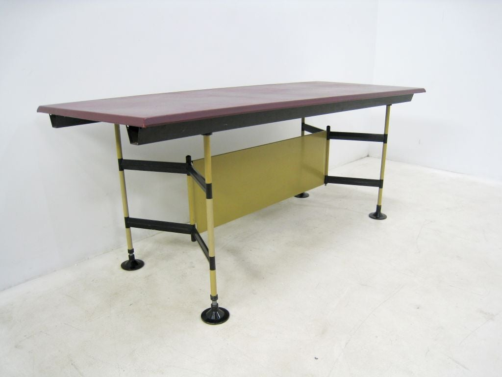 "Studio BBPR ""Spazio"" Work Table by Olivetti 4"