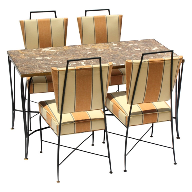 Arturo Pani Table and Chairs For Sale