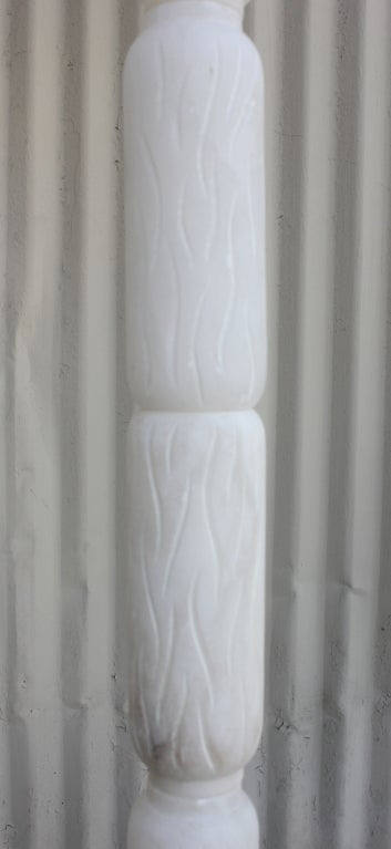 Honed Italian Alabaster Floor Lamp In Excellent Condition For Sale In Los Angeles, CA