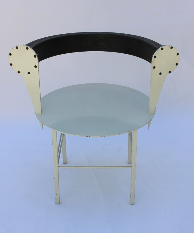 Post modern steel and rubber art chair for sale at 1stdibs for Post modern chair