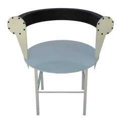 Post-Modern Steel and Rubber Art Chair