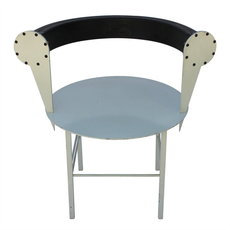 Post modern steel and rubber art chair at 1stdibs for Post modern chair