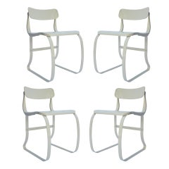 Four Health Metal Chairs