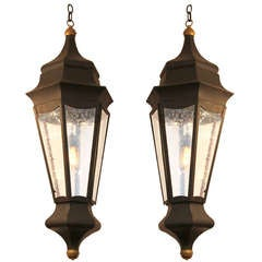 Pair of Large  Neoclassical  Style Lanterns