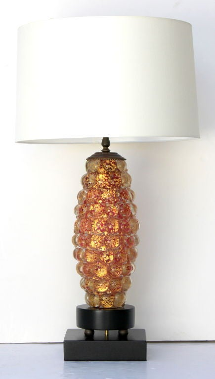 Pair of Ercole Barovier Lenti Table Lamps In Excellent Condition For Sale In Los Angeles, CA