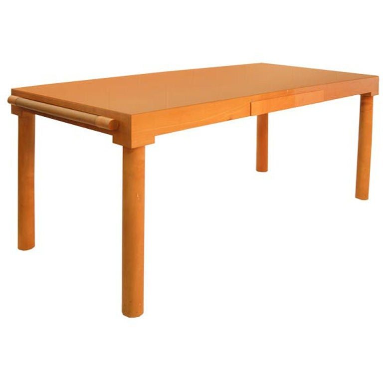 "Christian Liaigre ""Polo"" Desk with Leather Extensions 1"