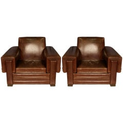 Pair of  Arturo Pani Club Chairs
