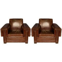 Pair of Arturo Pani Club Chairs