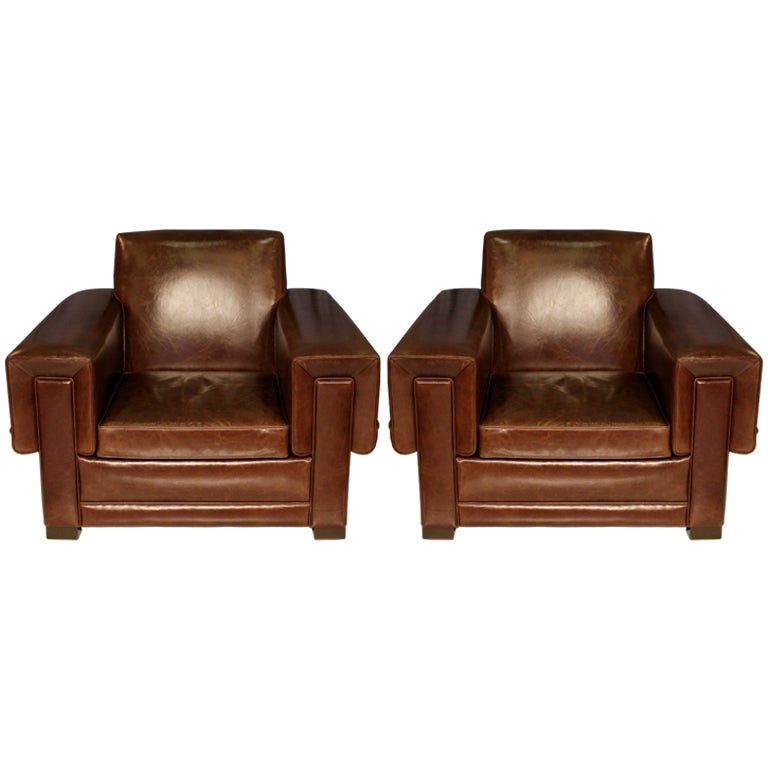 Pair Of Arturo Pani Club Chairs For Sale At 1stdibs