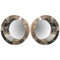Pair of Jere Porthole Mirrors