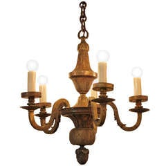 French Early 20th Century  Bronze Chandelier