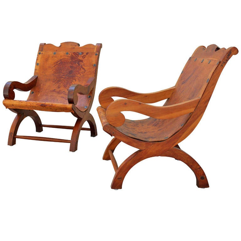 "Pair of ""Miguelito"" Butaque Chairs 1"
