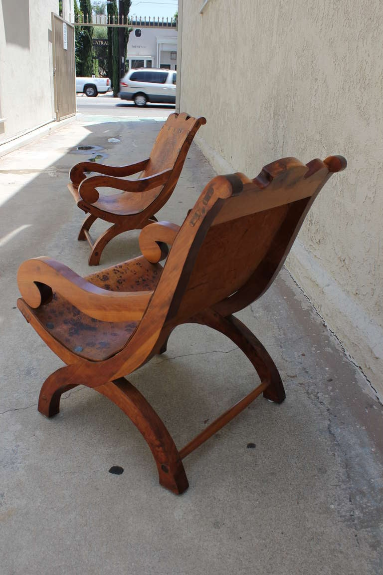 "Pair of ""Miguelito"" Butaque Chairs 10"