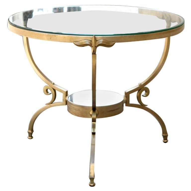 Arturo Pani Brass Table At 1stdibs