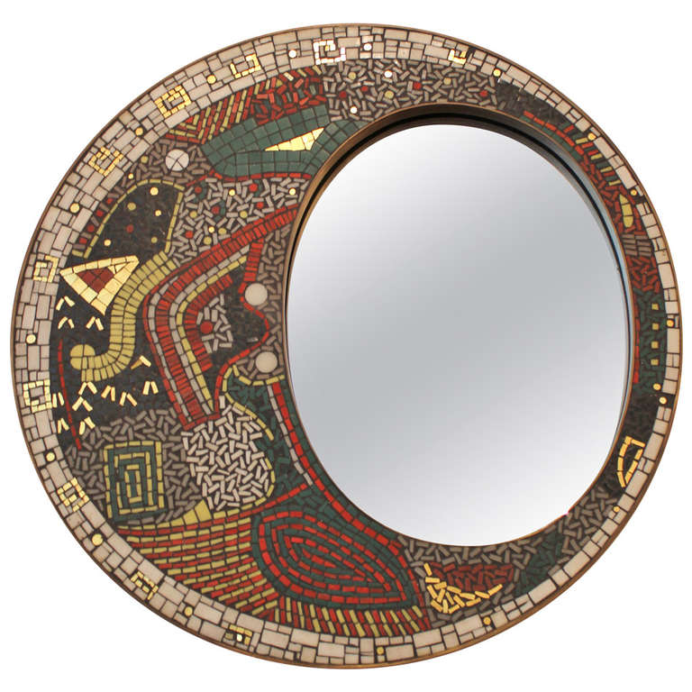 German mosaic mirror for sale at 1stdibs for Long wall mirrors for sale